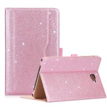 "ProCase Galaxy Tab A 10.1 Case 2016 Old Model, Stand Folio Case Cover for Galaxy Tab A 10.1"" Tablet SM-T580 T585 T587 (NO S Pen Version) with Multiple Viewing Angles, Card Pocket -Glitter Pink"