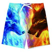 Freshhoodies Boy Kids Quick Dry Upf50+ Swim Trunks Cool Funny Beach Surf Shorts 6-14Years