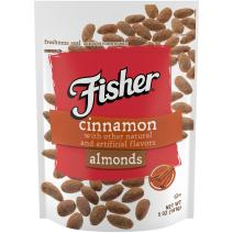 FISHER Snack Cinnamon Almonds, 5 oz (Pack of 6)