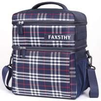 Insulated Lunch Bag With Shoulder Strap Bottle Holder, Large Lunch Box Cooler Lunchbag for Adult Women Men