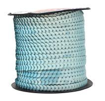 Mandala Crafts Flat Sequin Strip Trim on Strings for Crafts, Fringe, and Sewing; Aquamarine 6mm 100 Yard Roll