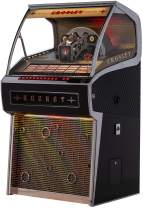 Crosley Rocket Full Size Vinyl Jukebox with Bluetooth - Holds 70 45-RPM Vinyl Records, Black