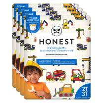 The Honest Company Toddler Training Pants | Construction Zone | 2T/3T | 104 Count | Eco-Friendly | Underwear-Like Fit | Stretchy Waistband & Tearaway Sides | Perfect for Potty Training