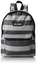 Everest Basic Pattern Backpack, Black/Gray, One Size