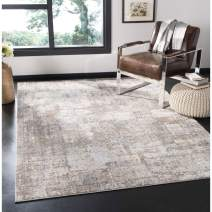 "Safavieh Invista Collection INV435A Area Rug, 6'7"" x 6'7"" Square, Cream/Beige"