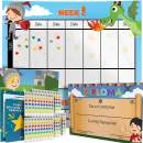 Potty Training Chart - Reward Sticker Chart - Dragon Theme - Marks Behavior Progress – Motivational Toilet Training for Toddlers and Children – Great for Boys and for Girls (Boys Theme)