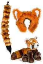 Wildlife Tree Stuffed Plush Zoo Animal Ears Headband and Tail Set with Plush Toy Animal Bundle