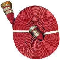 "JGB Enterprises A008-0321-1650NU Eagle Red PVC Discharge Hose, 2"" x 50', Campbell Water Shank Couplings, 150 psi Working Pressure, -14 Degree F to 170 Degree F"