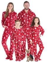 SleepytimePJs Matching Family Christmas Pajama Sets, Deer Footed Onesies