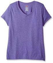 Hanes Women's X-Temp Short Sleeve V-Neck Tee with FreshIQ