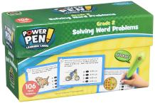 Teacher Created Resources Power Pen Learning Cards: Solving Word Problems Grade 2 (6990)
