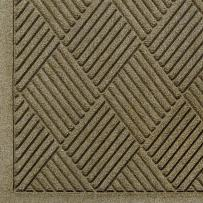 """M+A Matting 221 Waterhog Fashion Diamond Polypropylene Fiber Entrance Indoor Floor Mat, SBR Rubber Backing, 4' Length x 3' Width, 3/8"""" Thick, Camel"""