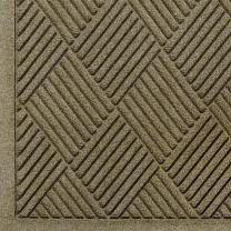 """M+A Matting 221 WaterHog Fashion Diamond Polypropylene Fiber Entrance Indoor/Outdoor Floor Mat, SBR Rubber Backing, 5' Length x 3' Width, 3/8"""" Thick, Camel"""