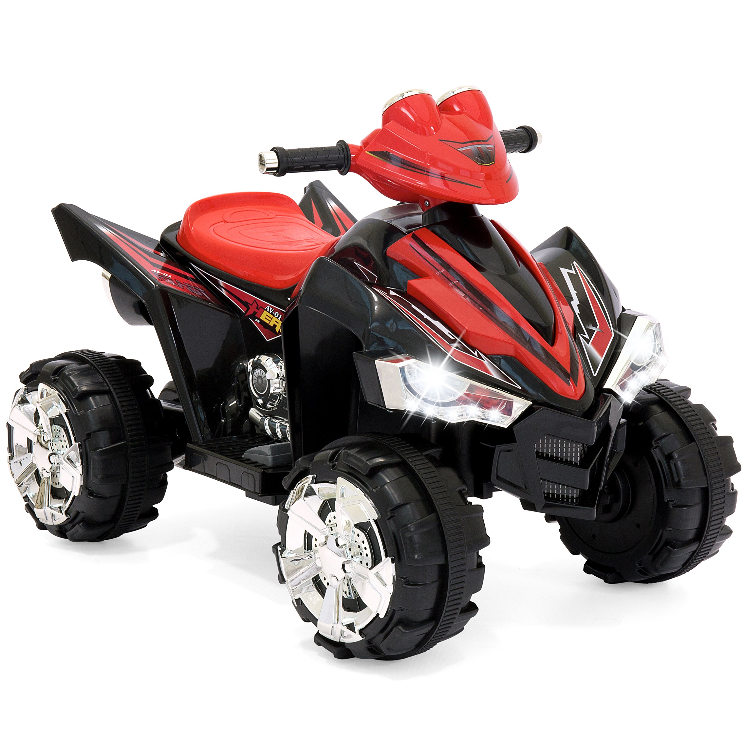 Best Choice Products 12V Kids Battery Powered Electric 4-Wheeler Quad ATV Ride On Toy w/ 2 Speeds, LED Lights - Red