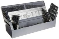 Chicago Latrobe 150 High-Speed Steel Jobber Length Drill Bit Set with Case, Black Oxide, 118 Degree Conventional Point, Combination, 115-Piece