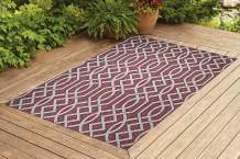 Benissimo Indoor Outdoor Rug Ribon Collection Non-Skid, Natural Sisal Woven and Jute Backing Area Rugs for Living Room, Bedroom, Kitchen, Entryway, Hallway, Patio, Farmhouse Decor 6x9, Brick