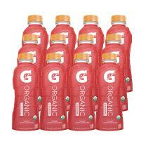 G Organic, Strawberry, Gatorade Sports Drink, USDA Certified Organic, 16.9 Fl Oz. (Pack of 12)