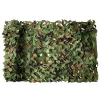 NINAT Woodland Camo Netting Camouflage Net Woodland Bulk Roll for Hunting Shooting Camping Military Decoration Sunscreen Nets 5ft x 20ft (1.5M x 6M)