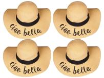 H-2017-BUNDLE-CBx4 Embroidered Sun Hat 4 Pack - Ciao Bella