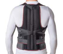 """JNTAR Back Brace Posture Corrector for Women & Men, Corset Provides Lumbar & Shoulders Support, Corrects Slouching & Bad Posture, Solution for Kyphosis & Scoliosis, Rigid Fixation (S/I (24-30""""))"""
