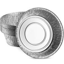MontoPack 9'' Round Disposable Dutch Oven Aluminum Foil Liners   No Mess, Easy to Clean, Durable & Sturdy Tins for Camping, Baking, BBQ, Indoor & Outdoor Cooking   Made in USA 10 Pack that Saves Time