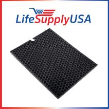 LifeSupplyUSA 3 Pack Charcoal Carbon Filter Compatible with Rabbit Air The BioGS 2.0 Ultra Quiet Air Purifier RabbitAir Model SPA-550A and SPA-625A