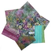 Textile Creations Indonesian Batik 10'' Square Pack 24 Pcs Green/Purple