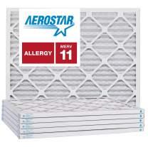 Aerostar 8x12x1 MERV 11, Pleated Air Filter, 8x12x1, Box of 6, Made in The USA