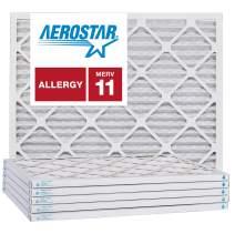 Aerostar 6x10x1 MERV 11, Pleated Air Filter, 6x10x1, Box of 6, Made in The USA