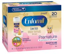 Enfamil Ready to Feed Premature Newborn Baby Formula Milk, 2 Fluid Ounce (6 count), Low Iron 20 Calorie