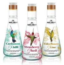 Naturally Flavored Sparkling Water by Kolibri - for Non Alcoholic Drinks and Cocktail Mixers with Low Glycemic Agave Syrup - Botanical Bubbly, Fizzy Natural Spring Tonic Water for Mocktails (3 Pack)