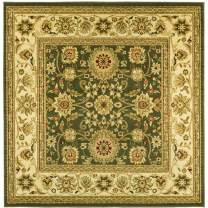 Safavieh Lyndhurst Collection LNH212C Traditional Oriental Non-Shedding Stain Resistant Living Room Bedroom Area Rug, 8' x 8' Square, Sage / Ivory