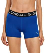"""Women's Spandex Compression Volleyball Shorts 3"""" Workout Pro Shorts for Women"""