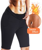 Best Women Weight Loss Pants Neoprene Exercise Leggings Sauna Suit Body Shaper Hot Sweat Thermo Slimming Capri Workout