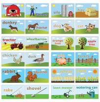 Creanoso Basic Farm Objects Flash Cards for Children (120-Pack) – Unique Educational Cards Gift Set – Great Stocking Stuffers Gift for Toddlers, Boys & Girls – Teaching Materials – Classroom Rewards