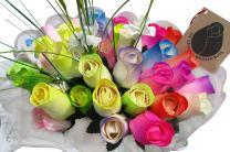 The Original Wooden Rose Spring Easter Flower Bouquet Closed Bud (3 Dozen)
