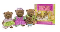 Li'l Woodzeez Bear Family Set – Healthnuggle Bears with Storybook – 5pc Toy Set with Miniature Animal Figurines – Family Toys and Books for Kids Age 3+, Brown/A