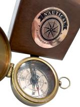Antique Vintage Lid Compass Compass for Real Sailors Dollond London Trending Magnetic, 2.5 inches, Brass