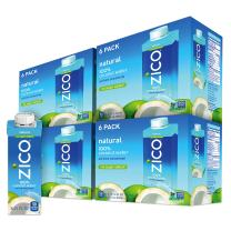 Zico Beverages Natural Coconut Water Drinks, No Sugar Added Gluten Free, 8.45 Fluid Ounce (Pack of 24)