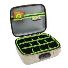 STASHLOGIX Silverton - Odor Proof & Locking Bag (Tan, Large)
