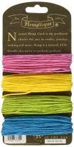 Hemptique Hemp Cord 4 Color Cards - Made with Love - Crafter's No. 1 Choice – Eco Friendly – Plant Hanger - Scrapbooking – Gardening – Macramé – Home Décor (Razzle Dazzle Pack)