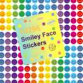 Youngever 10296 pcs Happy Smile Face Stickers, Smiley Face Stickers, 12 Colors, Incentive Stickers for Reward Behavior Chart 3/8 Inch, Teacher Supplies Classroom Supplies