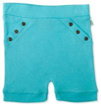 Finn + Emma Organic Cotton Shorts for Baby Boy or Girl – B.B. Blue, 6-9 Months