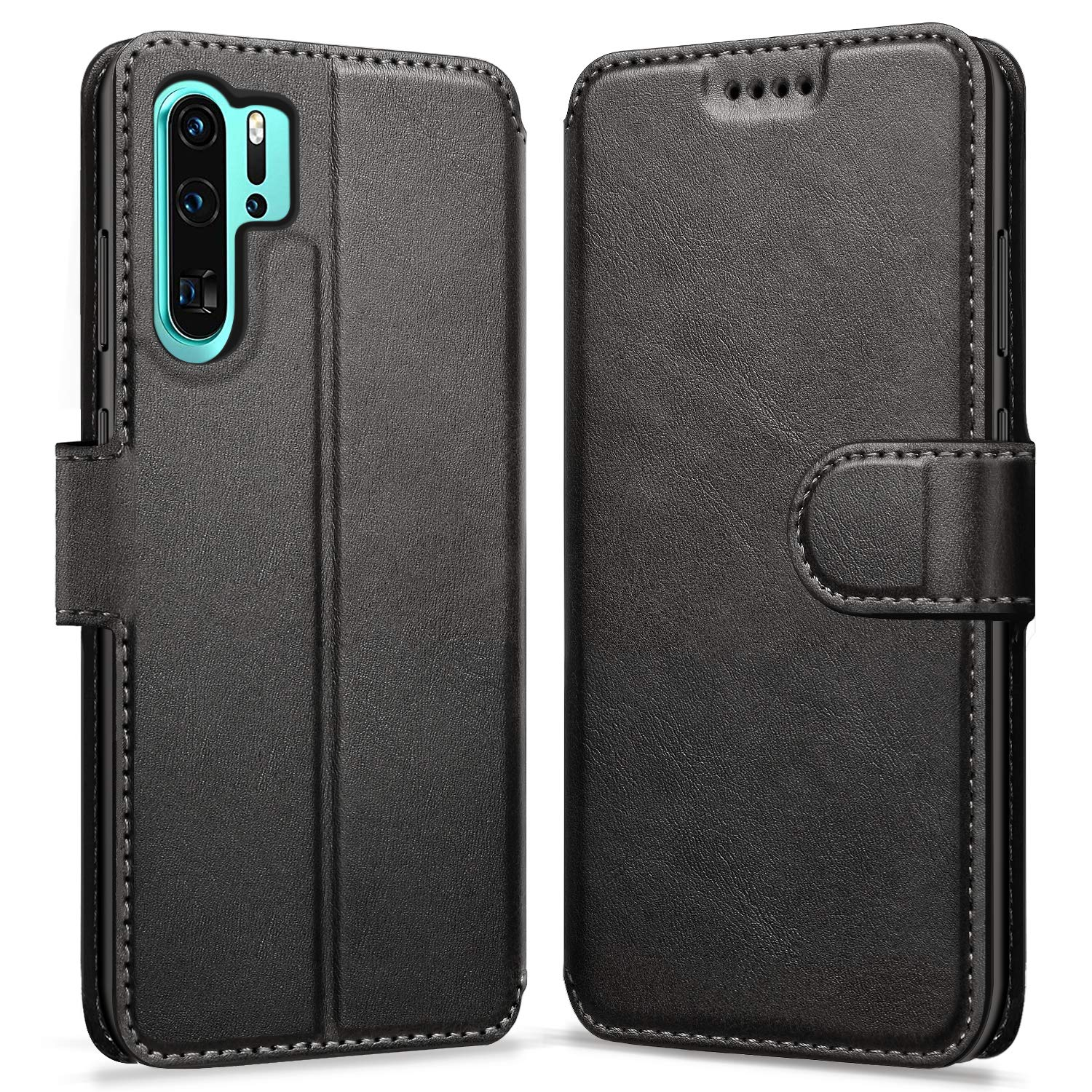 ykooe Case Compatible with Huawei P30 Pro, Leather Wallet Flip Case Huawei P30 Pro Phone Case with Card Slots Protective Cover for Huawei P30 Pro