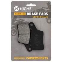 NICHE Brake Pad Set For Ski-Doo GSX 600 Summit Renegade X 800R MXZ 507032473 507032489 Rear Semi-Metallic