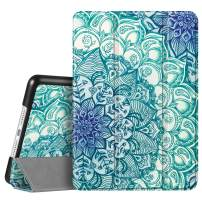"""Fintie Case for iPad 7th Generation 10.2 Inch 2019 - Lightweight Slim Shell Standing Hard Back Cover with Auto Wake/Sleep Feature for iPad 10.2"""" Tablet, Emerald Illusions"""