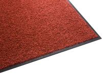 Guardian Platinum Series Indoor Wiper Floor Mat, Rubber with Nylon Carpet, 3'x11', Red
