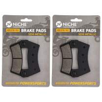 NICHE Front Rear Brake Pad Set for Polaris RZR ACE 900 2206025 1911085 Semi-Metallic 2 Pack