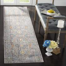 "Safavieh Mystique Collection MYS924R Vintage Watercolor Grey and Multi Distressed Runner (2'3"" x 8')"