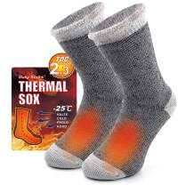 Winter Warm Thermal Socks for Men Women, Busy Socks Extra Thick Insulated Boot Heated Crew Socks For Extreme Cold Weather